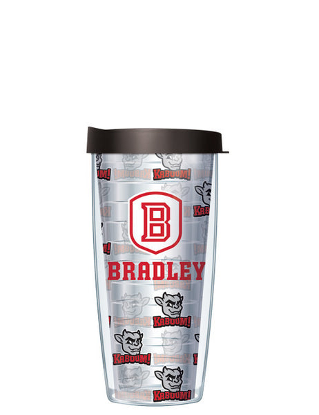 Bradley University - Repeat Logo on Clear Pattern