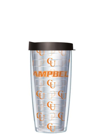Campbell University - Repeat Logo on Clear Pattern