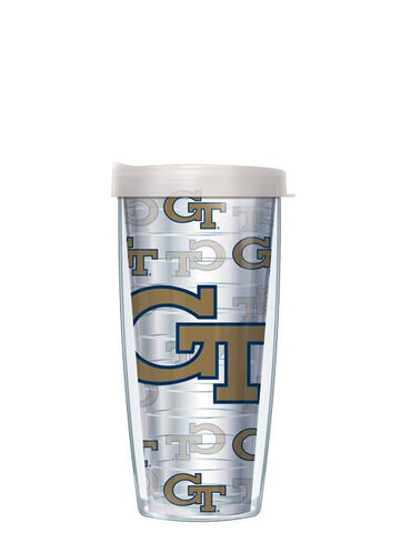 Georgia Tech - Repeat Logo on Clear Pattern