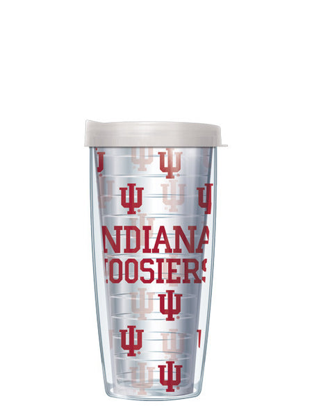 Indiana University - Repeat Logo on Clear Pattern
