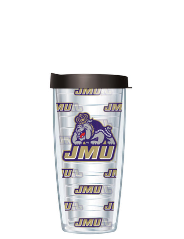 James Madison University - Logo Pattern on Clear with Black Lid