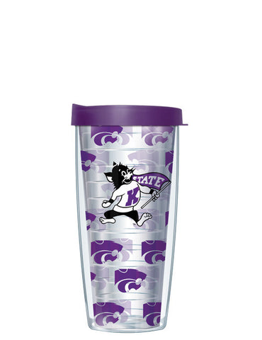 Kansas State University - Repeat Logo on Clear Pattern