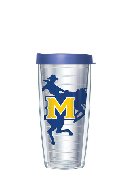 McNeese State University - Large Logo on Clear Pattern