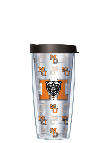 Mercer University - Repeat Logo on Clear Pattern