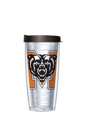 Mercer University - Large Logo on Clear Pattern