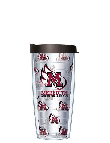 Meredith College - Repeat Logo on Clear Pattern
