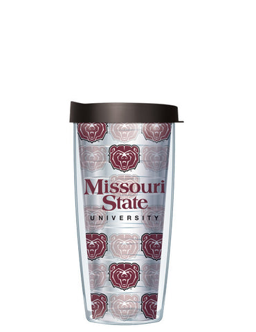 Missouri State University - Repeat Logo on Clear Pattern