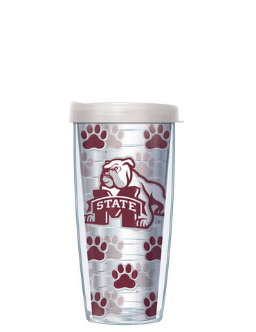 Mississippi State University - Repeat Logo on Clear Pattern
