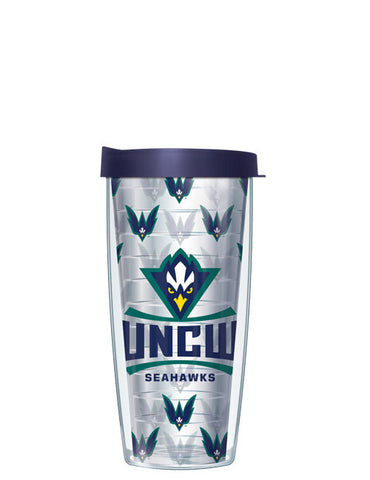 University of North Carolina Wilmington - Repeat Logo on Clear Pattern