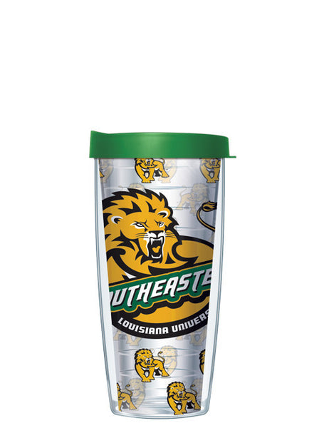 Southeastern Louisiana University - Repeat Logo on Clear Pattern