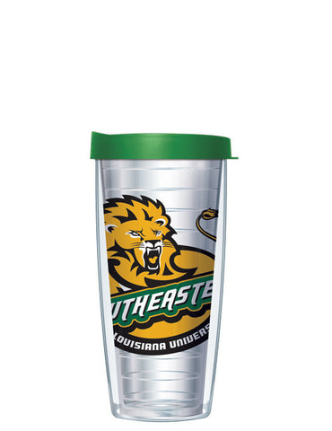 Southeastern Louisiana University - Large Logo on Clear Pattern