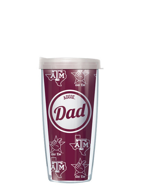 Texas A&M - Aggie Dad with Clear Lid