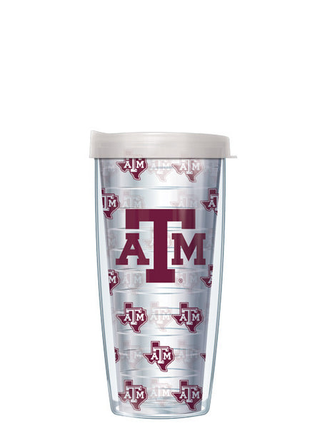 Texas A&M - Logo Pattern on Clear with Clear Lid