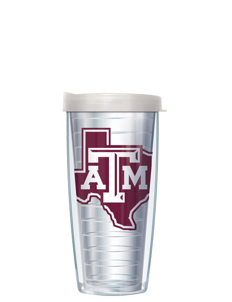 Texas A&M - Logo on Clear with Clear Lid