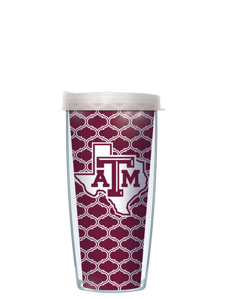 Texas A&M - Duofoil Pattern with Clear Lid