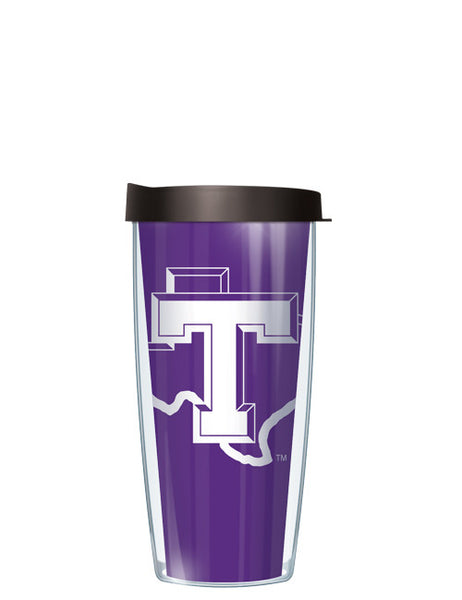 Tarleton State University - Large Logo & Inside Pattern with Black Lid