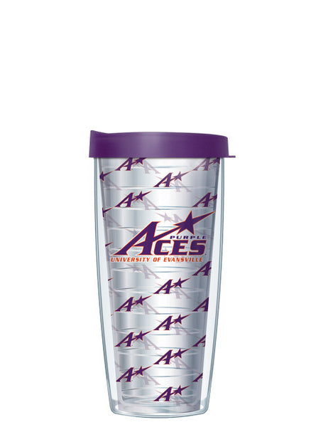 University of Evansville - Repeat Logo on Clear Pattern