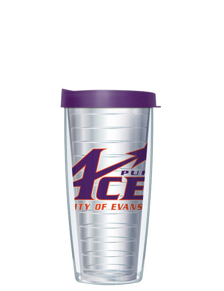 University of Evansville - Large Logo on Clear Pattern