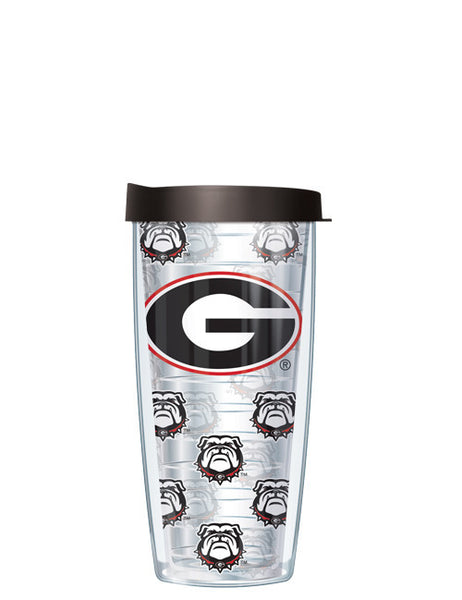 University of Georgia - Repeat Logo on Clear Pattern