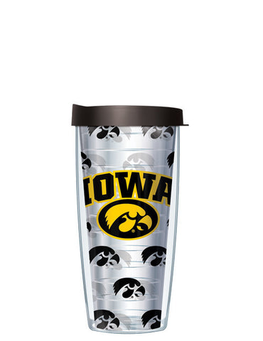 University of Iowa - Repeat Logo on Clear Pattern