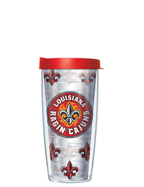 University of Louisiana Lafayette - Repeat Logo on Clear Pattern