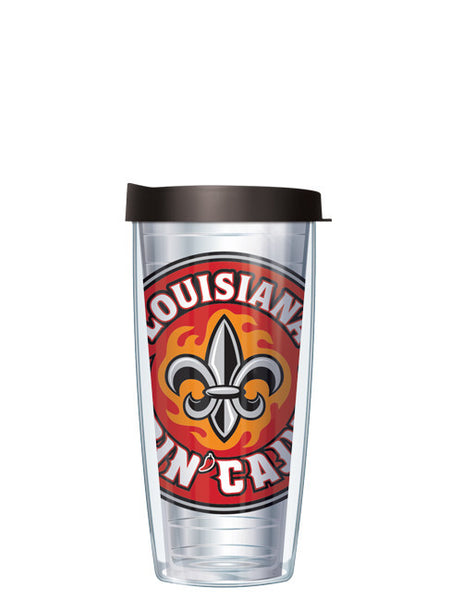 University of Louisiana Lafayette - Large Logo on Clear Pattern