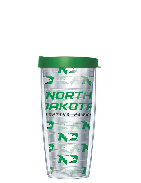 University of North Dakota - Repeat Logo on Clear Pattern