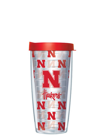 University of Nebraska - Repeat Logo on Clear Pattern