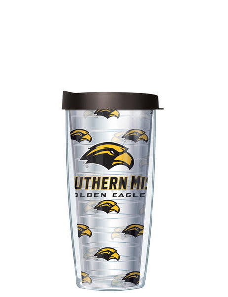 University of Southern Mississippi - Repeat Logo on Clear Pattern