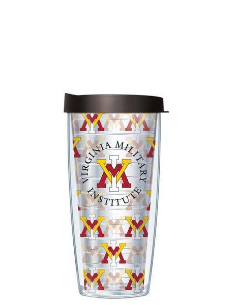 Virginia Military Institute - Logo Pattern on Clear with Red Lid