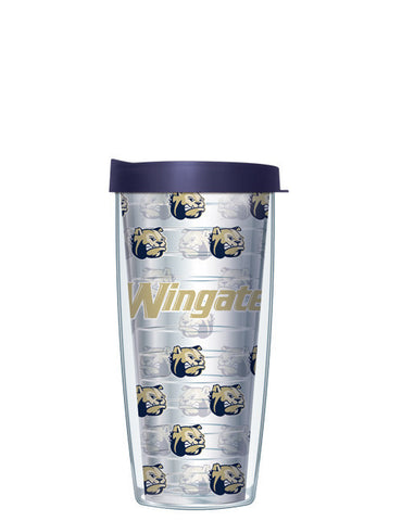 Wingate University - Repeat Logo on Clear Pattern