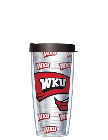 Western Kentucky University - Repeat Logo on Clear Pattern