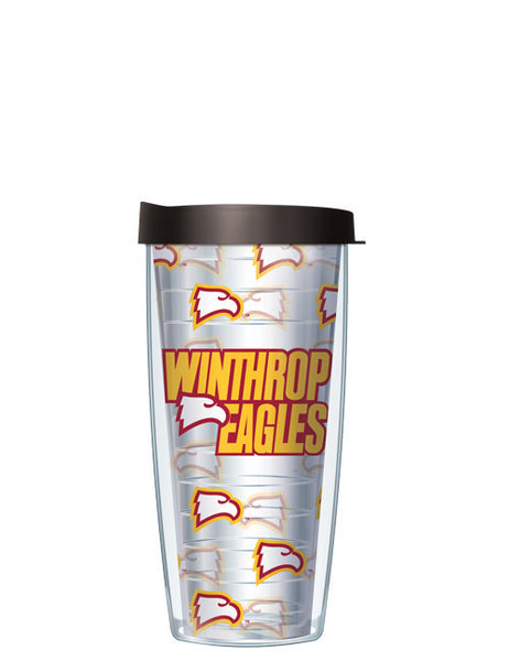 Winthrop University - Repeat Logo on Clear Pattern