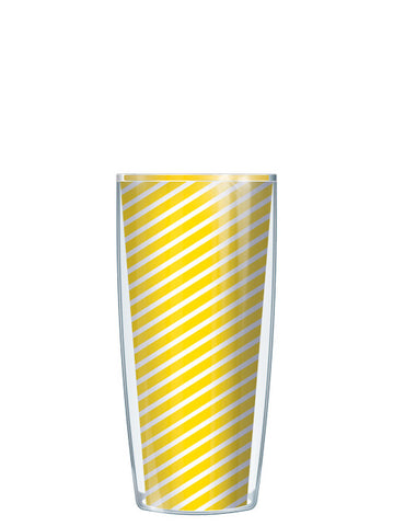 Yellow Diagonal Stripes Tumbler - Signature Tumblers - Tumbler -  - 1