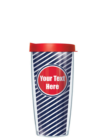Personalized Text With Font Option Diagonal Red - Signature Tumblers - Tumbler -  - 2