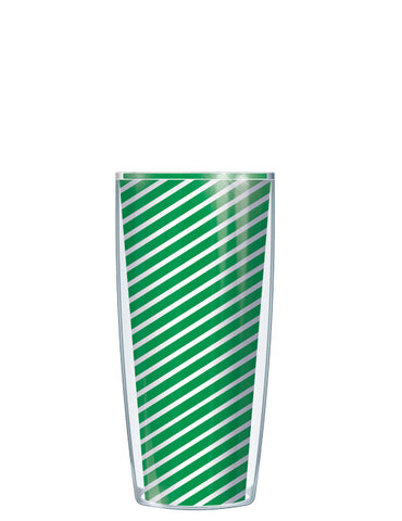 Green Diagonal Stripes Tumbler - Signature Tumblers - Tumbler -  - 1