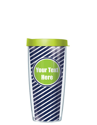 Personalized Text With Font Option Diagonal Lime - Signature Tumblers - Tumbler -  - 2