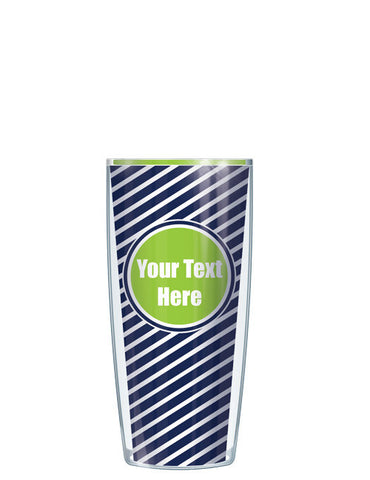 Personalized Text With Font Option Diagonal Lime - Signature Tumblers - Tumbler -  - 1