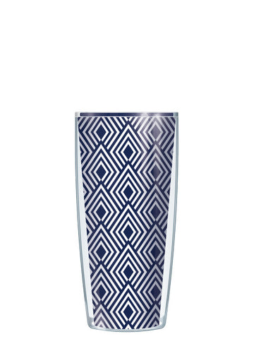 Navy Diamonds Tumbler - Signature Tumblers - Tumbler -  - 1