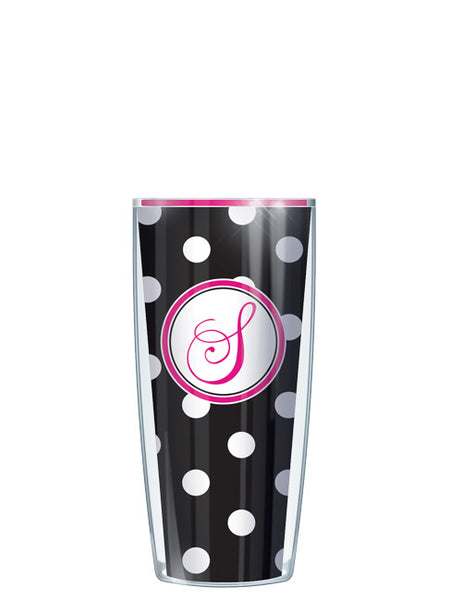Single Letter Dots Black - Signature Tumblers - Tumbler -  - 1