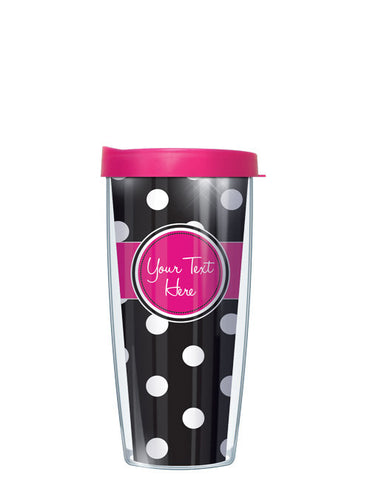 Personalized Text With Font Option Dots Black - Signature Tumblers - Tumbler -  - 2