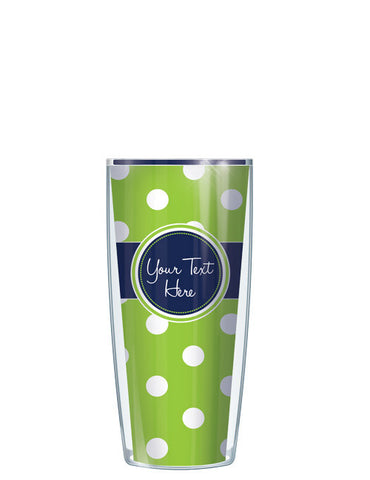 Personalized Text With Font Option Dots Teal - Signature Tumblers - Tumbler -  - 1