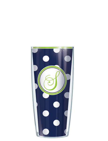 Single Letter Dots Navy - Signature Tumblers - Tumbler -  - 1