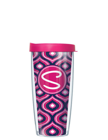 Single Letter Color Drops Pink - Signature Tumblers - Tumbler -  - 2