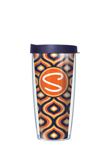 Single Letter Color Drops Orange - Signature Tumblers - Tumbler -  - 2
