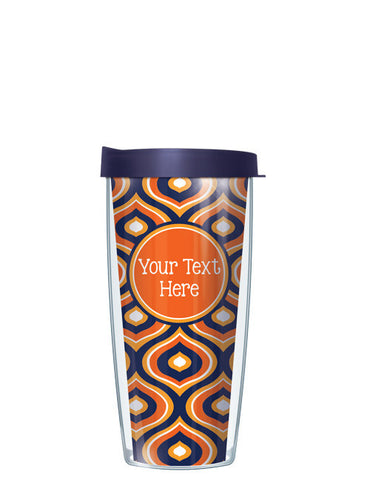 Personalized Text With Font Option Color Drops Orange - Signature Tumblers - Tumbler -  - 2