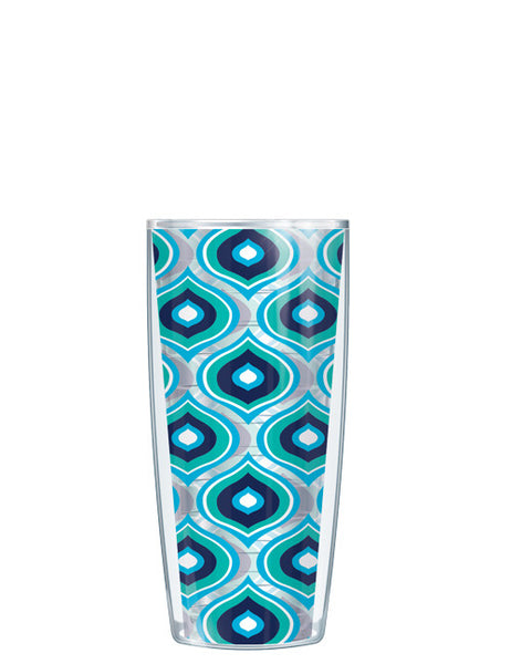 Blue Color Drops - Clear Tumbler - Signature Tumblers - Tumbler -  - 1