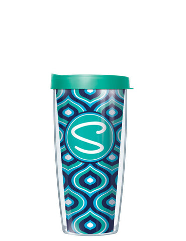 Single Letter Color Drops Teal - Signature Tumblers - Tumbler -  - 2