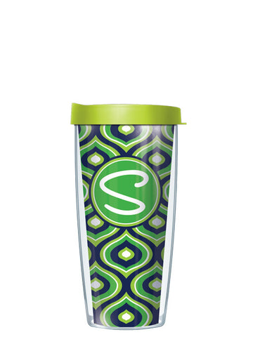 Single Letter Color Drops Lime - Signature Tumblers - Tumbler -  - 2