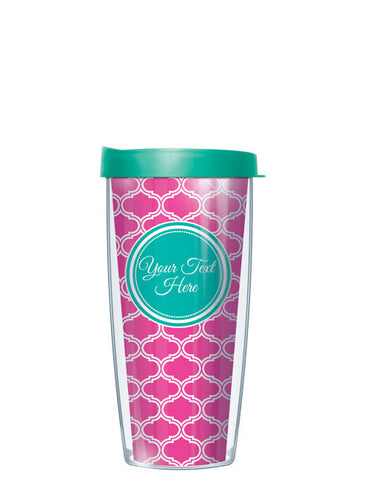 Personalized Text With Font Option Duofoil Pink - Signature Tumblers - Tumbler -  - 2
